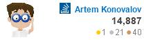 Учётная запись Artem Konovalov на сайте Stack Overflow на русском,Вопросы и ответы для программистов